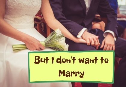 I dont want to Marry icon of bride and groom