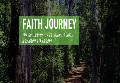 Road indicating faith Journey